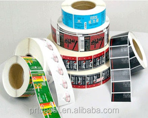 pvc clear sticker roll label