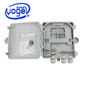 IP66 PC/ABS Junction Box Enclosure Terminal Optical Fiber Distribution FTTH Box with 8 core Splitter
