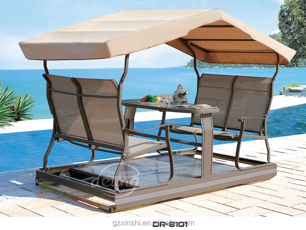 2015 4 Seat New Power Swing Chair Garden Swing Set Teslin Aluminum  Waterproof Hot