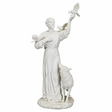 Custom Resin St. Francis and Friends of the Forest Bonded Marble Resin Statue