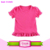 2016 wholesale kids hot pink ruffle shirt,designer baby clothes girls,new model ruffle shirts toddler
