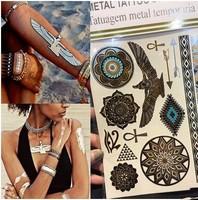 Metallic Flash Tattoos, Temporary, Gold, Festivals, Fashion, Body Art, Jewellery