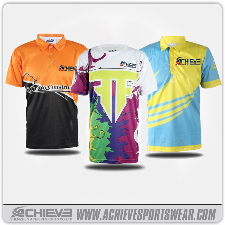 Sublimation printing polyester t shirt cheap sports polo t for Where to buy polo shirts cheap