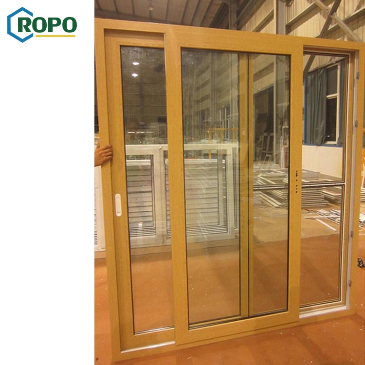Australia Standard Patio Double Glass 2 Panel Custom Balcony Upvc Pvc Slide Door Price
