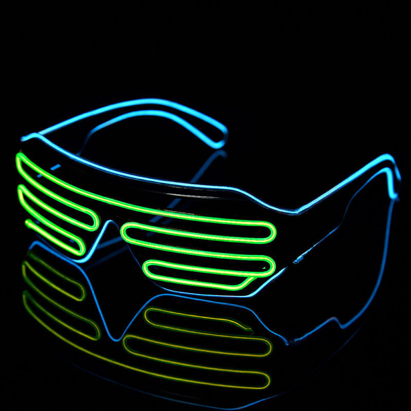 EL Wire LED Glasses Glowing Light Flashing Sunglasses Decorative Gift Party AM588