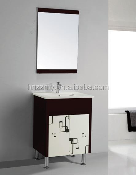 economical bathroom pvc cabinet floor mounted vanity for india market