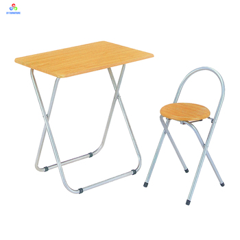 Simply Design Wooden Folding Study Table And Chair Kitchen Sets Portable Set Designs