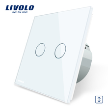 Livolo 220V High Quality Switch Window Touch Wall Blind Curtain Switch VL-C702W-11