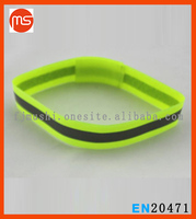 Reflective running armbands or ankle bands or wrist bands Two reflective strips