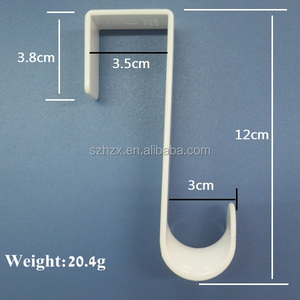 2016 Plastic door hook/Single Over Door Hook/s shaped door coat hook