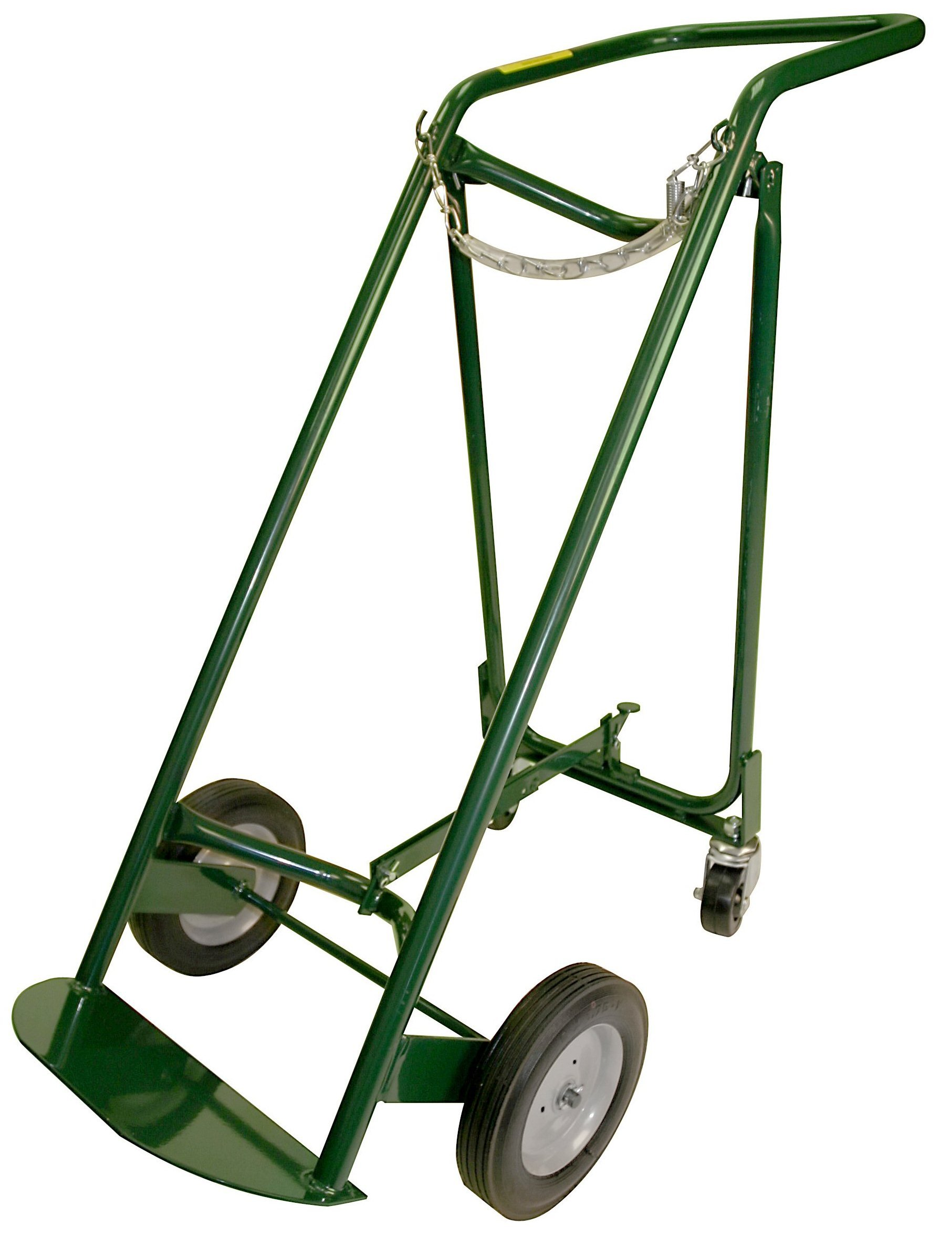 Harper Trucks MG-470B40 46-Inch High by 20-Inch Wide Large Oxygen Cylinder Hand Truck with Two Rear Casters with 8-Inch Semi-Pneumatic Wheels