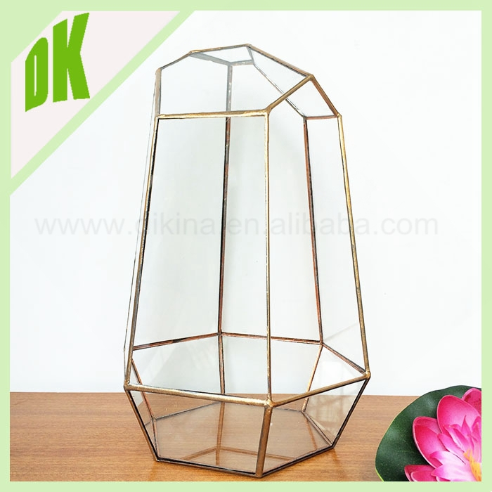 For wedding parts copper votive tealight brass glass candle holder