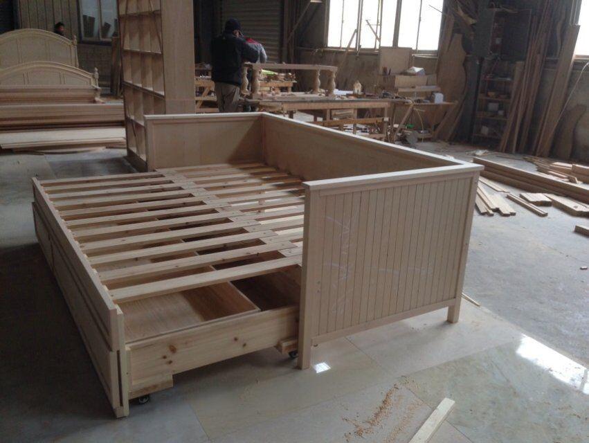 F50037a 1american dormitorio moderno muebles de roble for Camas chinas baratas