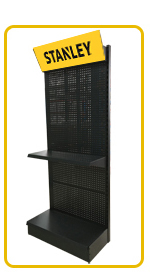 OEM metal supermarket bread rack with advertising board