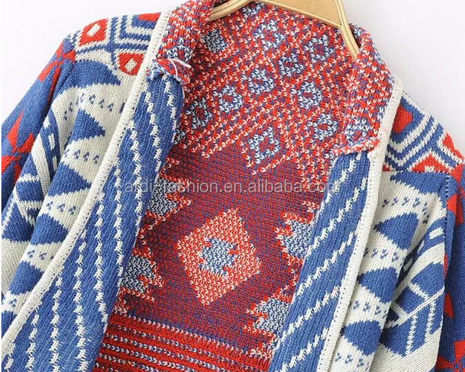 Female Cardigan Ethnic Cardigan Knitted Patterns Aztec Cardigan ...