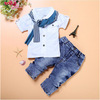 Boys Clothes Summer Children Clothing Sets Costumes For Kids Clothes Set Toddler T-shirt+Jeans Sport Suits Wear 2 3 4 5 6 7 Year