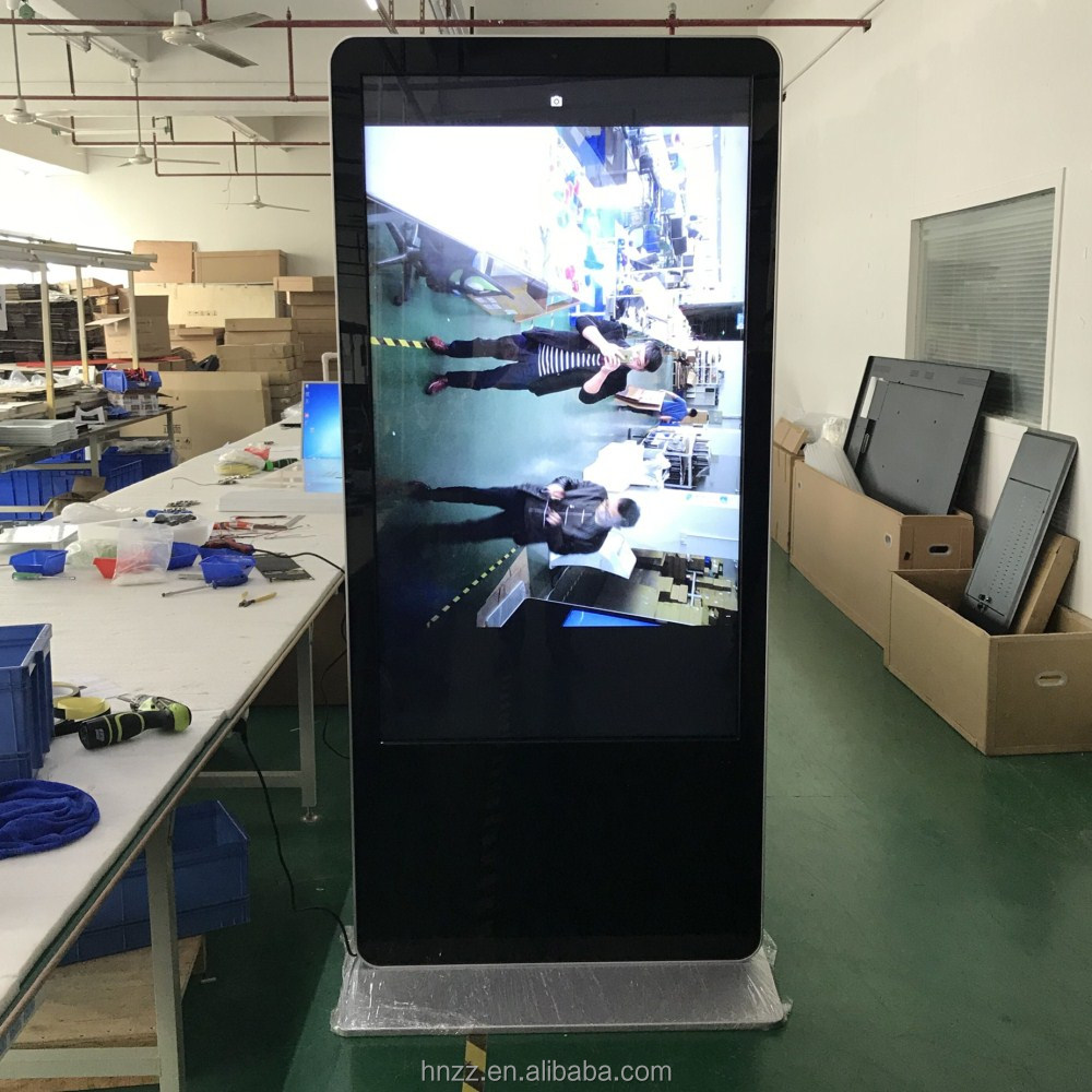 65 inch 4g wifi 4k hdmi digital signage totem with camera
