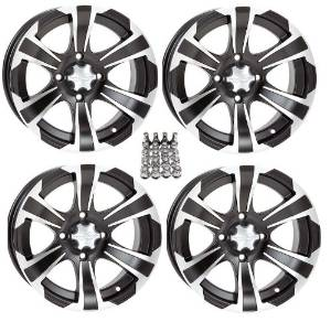 "ITP SS312 ATV Wheels/Rims Black 14"" Polaris Sportsman RZR Ranger (4)"