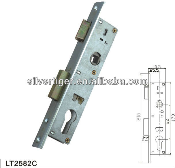 LT2582C mortise door lock hardware
