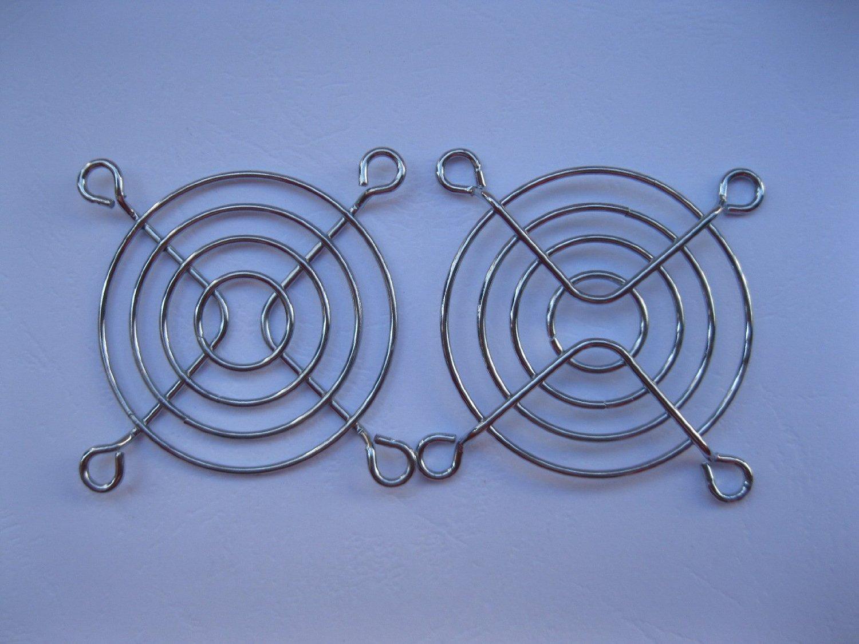 20 Pcs DC Fan Grill Protector Silver Metal Finger Guard Used for 60x60mm Fan 6cm