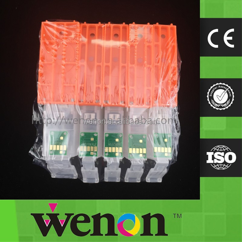 BCI370 BCI371 Refillable Cartridge With Permanent Chip For Canon MG7730 MG6930 MG5730 Inkjet Printer