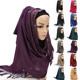 Indonesian Muslim Clothing Polyester polyester shemagh Keffiyeh Scarf Diamond Hijab