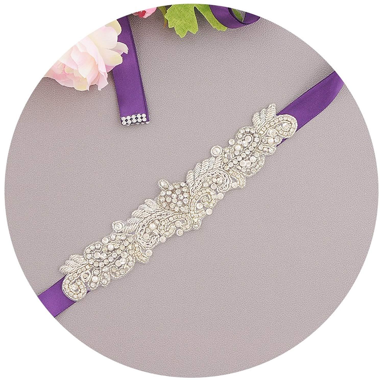 THK-Wedding Bridal belts with rhinestones,Wedding Sash Bridal Belt,crystal belts for women