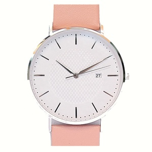 Minimalist Pink Cheap Wrist Watches Lady Automatic OEM Watch