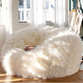 Fluffy fur large bean bag  faux fur bean bag chair  shaggy bean bag seat f83fb45d2fe8a