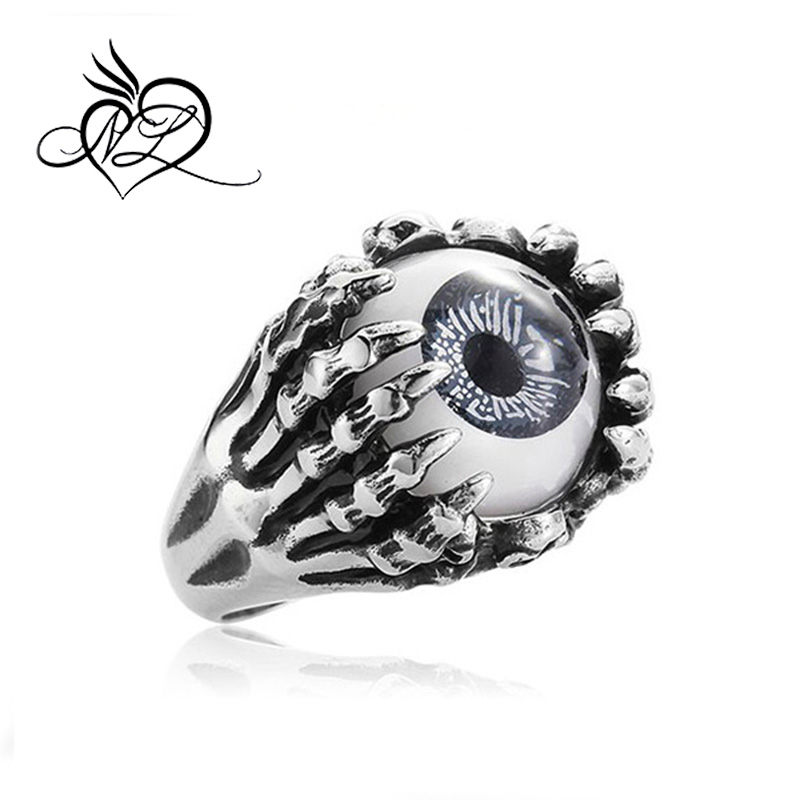 Hot selling Unique design dragon claw ring,evil eye rings