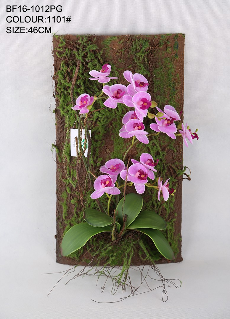Red Artificial Orchid Flower Wall Hanging