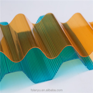 factory directly pc corrugated roofing sheets polycarbonate board