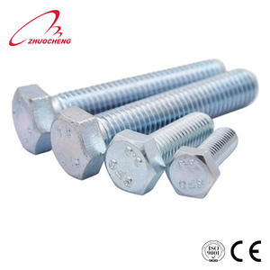 carbon steel hot dip galvanized grade 10.9 ISO4017 bolt