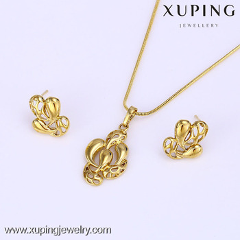 61639 Xuping Latest Design 14k Gold Color Pakistani Gold Jewelry