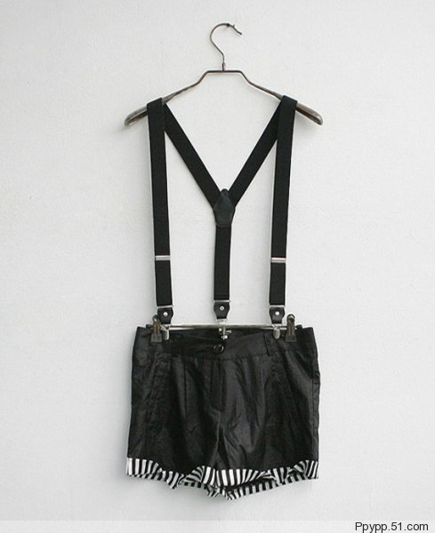Black Short Suspenders For Girls Generation