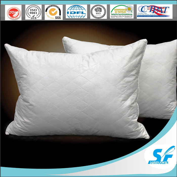 Cheap Hotel comfort stock diamond quilted pillow bamboo polyester pillow for sale