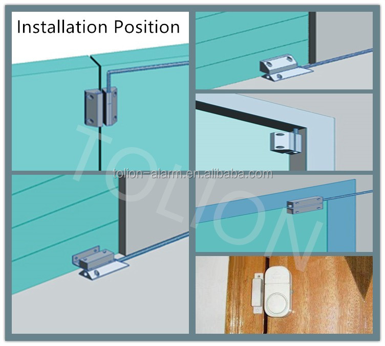 Tolion Recessed Mounted N C Door Magnetic Contact Security