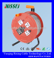 Metal Cable Reel Cord Drums PVC Rubber Electric Copper aluminum Wire Extension