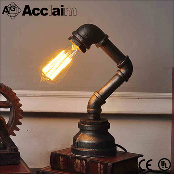 Steampunk Pipe Table Lamp Style Edison Lights