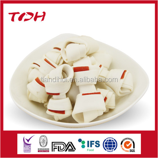 free pet stuff great pet treat beef flavor fish knotted bone with chicken nutritional Qingdao pet food
