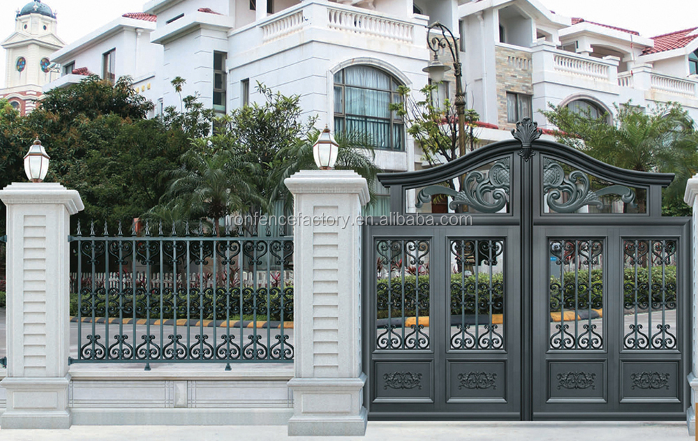 2016 latest products aluminum main gate design metal for Small house gate design philippines