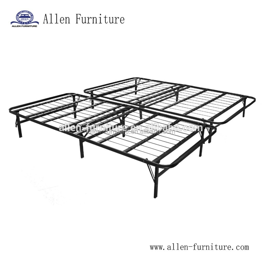 Foldable Bed Base Platform Bed Frame And Box Spring In One No