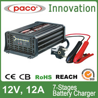 RV solar battery charger 12V,12A,automatic charging with CE,CB,RoHS certificate