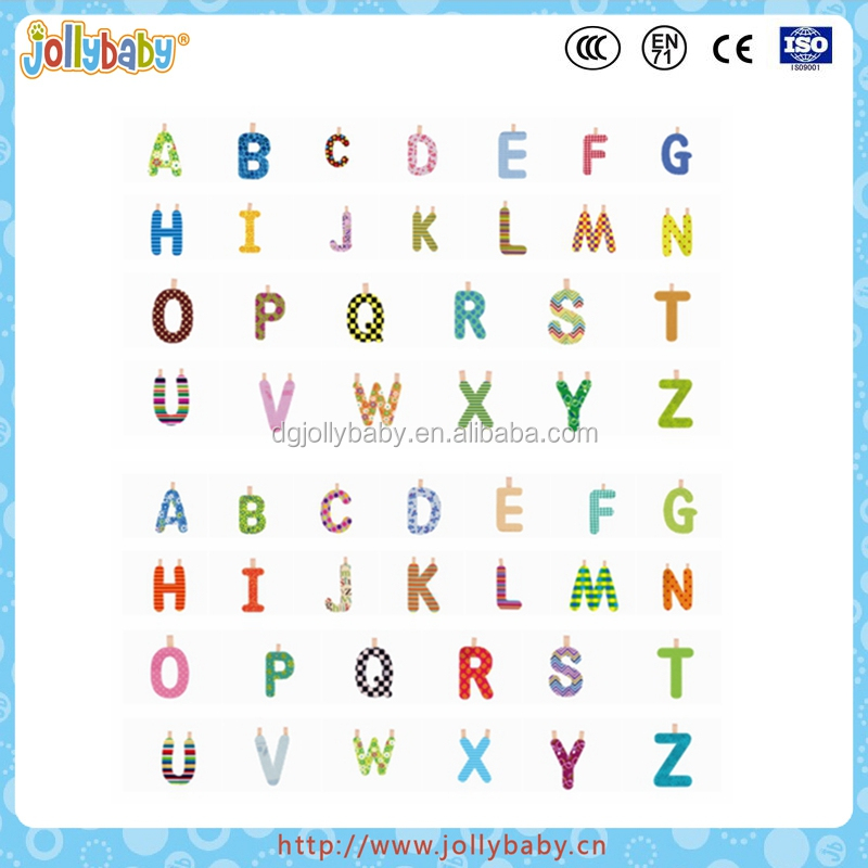 Dongguan Jollybaby 2016 Wholesale Customized English Learning Baby Cloth Alpahbet
