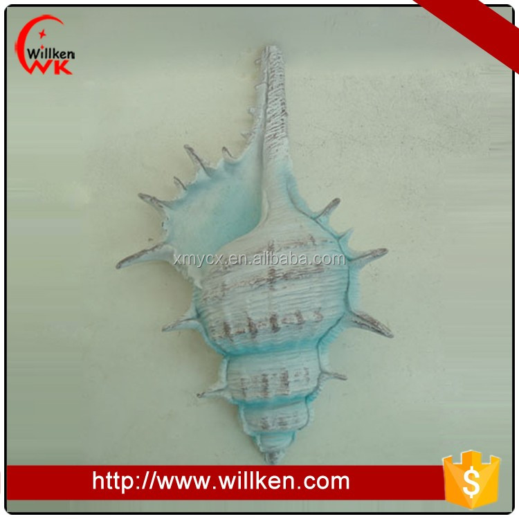 Hot selling blue resin conch table decor