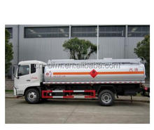 Low price Dongfeng 6-10 CBM oil truck/fuel tanker sale with computor refueling machine