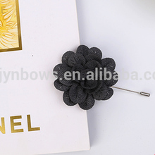 decorative artificial satin fabric flower brooch