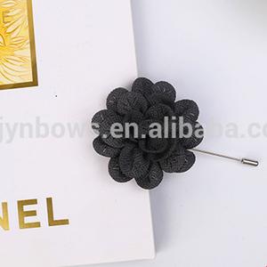 decorative artificial satin fabric flower brooch