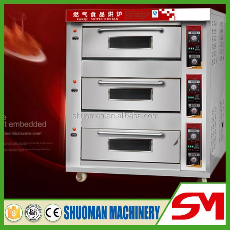 Uniform heating and good sealing bakery gas oven