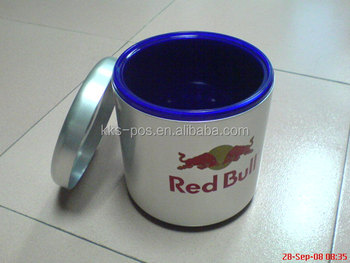 aluminium ice bucket with lid